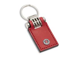Portachiavi in cuoio con borchia personalizzabile con micro iniezione a colori