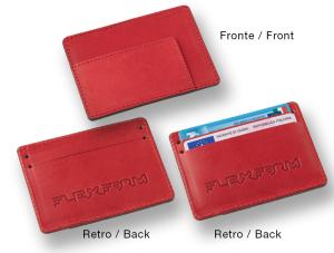 Porta carte di credito in cuoio con 3 scomparti