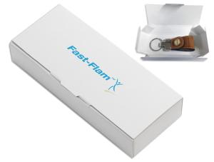 scatolina in cartoncino bianco personalizzabile con stampa offset ad un colore